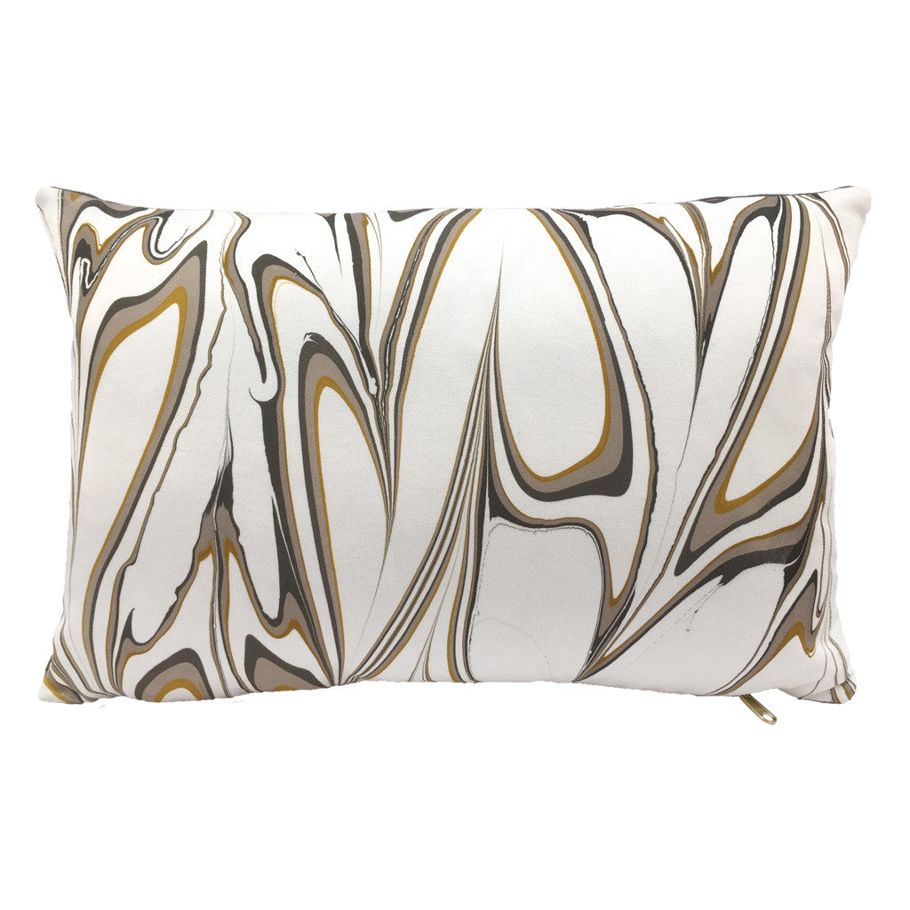 MARBLED PILLOW - OCHRE