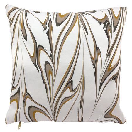 Textured Pillow - Ochre Diamond