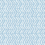 Off the Beaten Path in Blue | Hand-block print wallpaper by Sarah & Ruby | www.sarahrubydesign.com