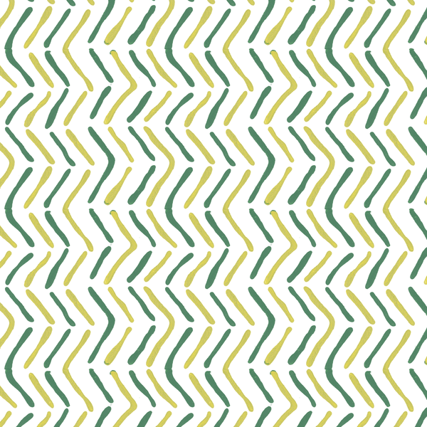 Off the Beaten Path in Jade (teal green) | Hand-block printed wallpaper by Sarah & Ruby | www.sarahrubydesign.com