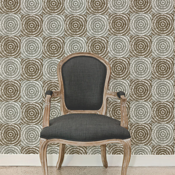 On The Mark | Hand print wallpaper by Sarah & Ruby | www.sarahrubydesign.com