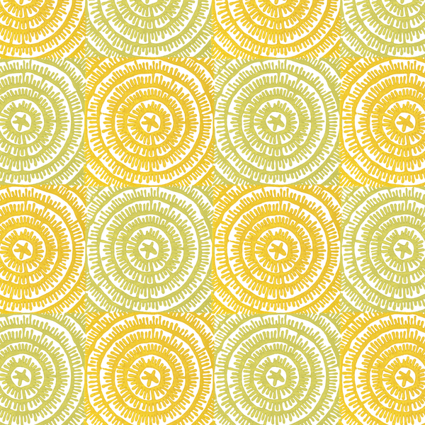 On The Mark in Citron (yellow green) | Hand-block printed wallpaper by Sarah & Ruby | www.sarahrubydesign.com