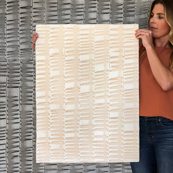 "Handpainted Single Sheet Wallcovering | 22""x30"" Domino Sheets with Deckles 