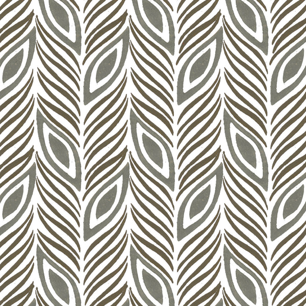 Strut Your Stuff in Stone (gray) | Hand printed wallpaper by Sarah & Ruby | www.sarahrubydesign.com