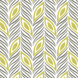 Strut Your Stuff in Citron (lime green) | Hand-block printed wallpaper by Sarah & Ruby | www.sarahrubydesign.com