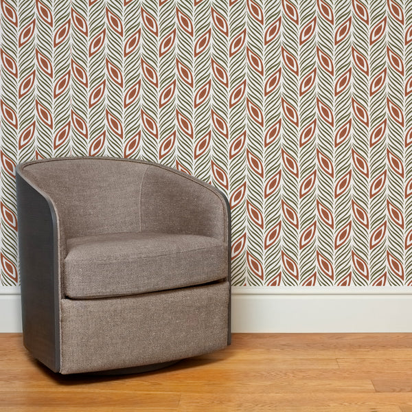 Strut Your Stuff | Hand-block print wallpaper by Sarah & Ruby | www.sarahrubydesign.com