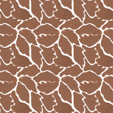 We Just Fit in Ginger (rust brown) | Hand-block printed wallpaper by Sarah & Ruby | www.sarahrubydesign.com