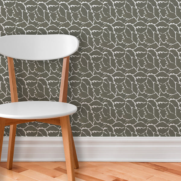 We Just Fit | Hand-block print wallpaper by Sarah & Ruby | www.sarahrubydesign.com
