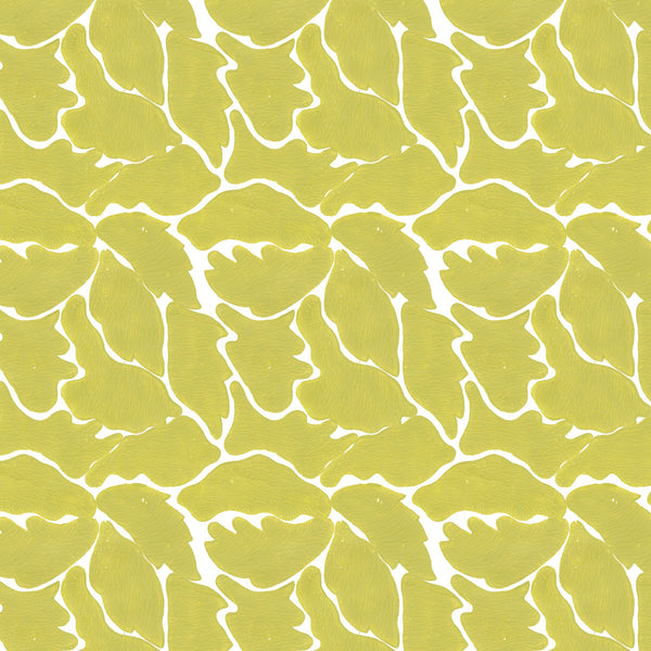 We Just Fit in Citron (lime green) | Hand painted wallcovering by Sarah & Ruby | www.sarahrubydesign.com