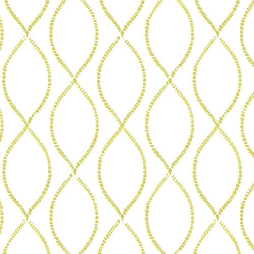 We're Intertwined in Citron (lime green) | Hand-block printed wallpaper by Sarah & Ruby | www.sarahrubydesign.com