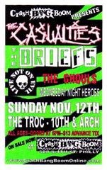 casualties, the briefs, the ghouls, live not on evil, crash bang boom presents