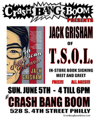 Jack Grisham of T.S.O.L. Crash Bang Boom in-store poster