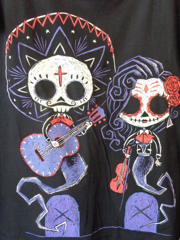 Akumu Ink Timeless Union black tee day of the dead and tombstones