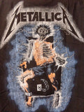 Metallica metal up your ass tee back print of skeleton in electric chair