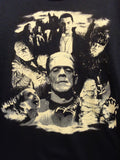 Universal Monsters Collage glow in the dark print on black tee