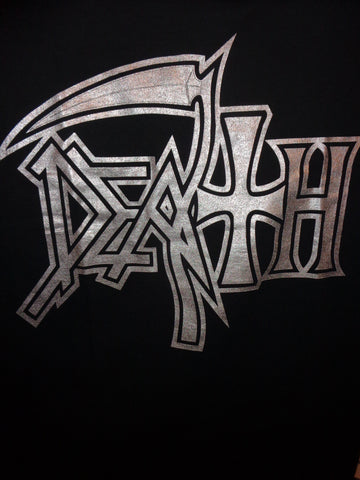 Death band logo silver print