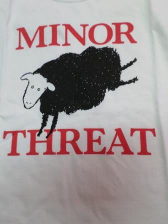 Minor Threat T-Shirt with black sheep and says Minor Threat