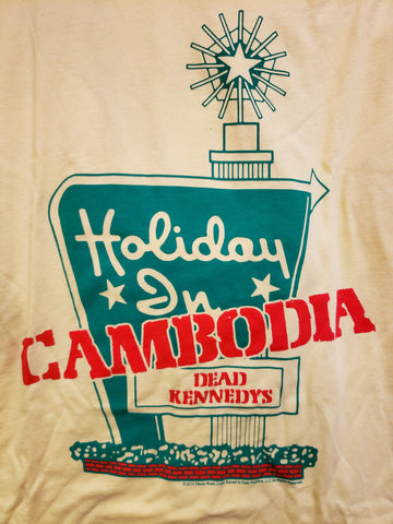 Dead Kennedys Holiday in Cambodia yellow tee Holiday Inn