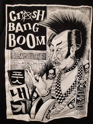 Crash Bang Boom Kim Su Punk tshirt Korean punkrock hanji