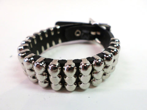 Leather Bracelet with Mini Studs