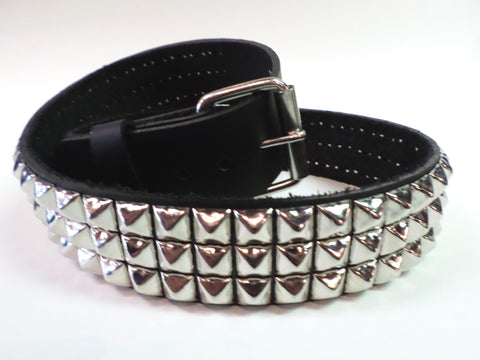 This is not a toy, Solid leather studded belt.