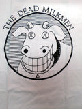 Dead Milkmen white tee with cow logo with xed out eyes