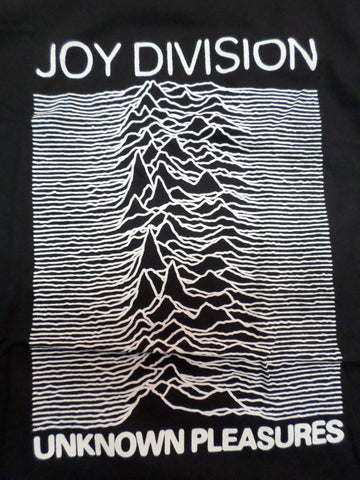 Joy Division Unknown Pleasures black T-Shirt with radio waves