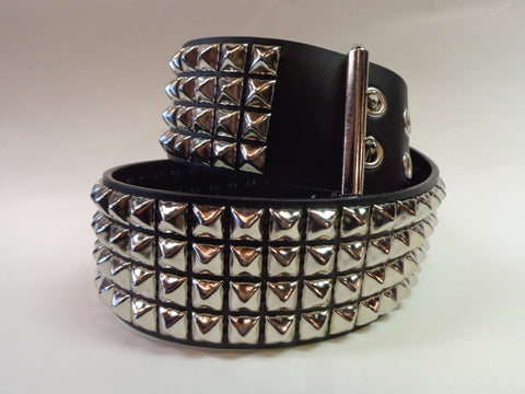 Four Row Pyramid Studded Belt
