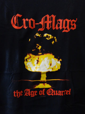 Cro-Mags black t-shirt says The Age of Quarrel and has atomic bomb image