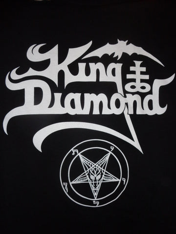 King Diamond black tee with logo pentagram bat
