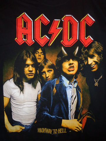 ACDC Highway to Hell black tee with band photo
