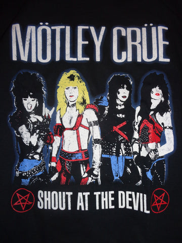 Motley Crue Shout at the Devil black tee group portrait