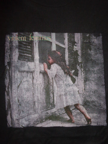 Violent Femmes black tee with girl looking into window self titled album