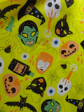 yellow mask print