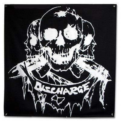 "Discharge Born to Die Flag 48""x48"" with skulls"