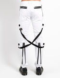 Tripp white bondage pants back zipper detail
