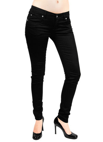 Black T-Back Cotton Twill Jeans Tripp NYC