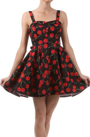 cherry dress black Ixia brand