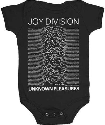 Joy Division unknown pleasures black onesie with graphic