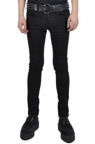 Trash and Vaudeville men's black skinny jean