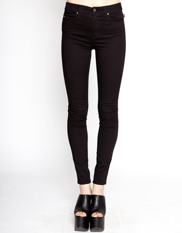 black high waist cotton twill skinny jean Tripp NYC
