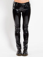 black skinny jean shiny vinyl pants Tripp NYC