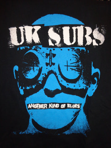 UK Subs Another Kind of Blues black tee with blue face