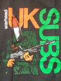 UK Subs Warhead black tee soldier graphic with a missile head