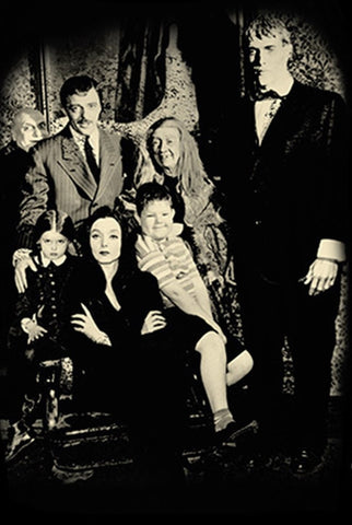 Addams Family black and white portrait tv sitcom