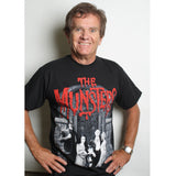 Actor Butch Patrick Eddie Munster wearing Munsters family portrait tshirt