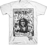 white zombie tee shirt white alive and deadly