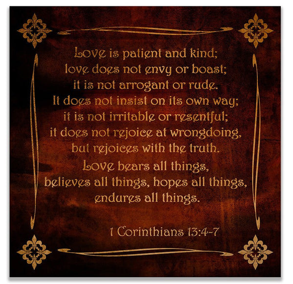 1 Corinthians 13 Print Wall Art - WallLillies