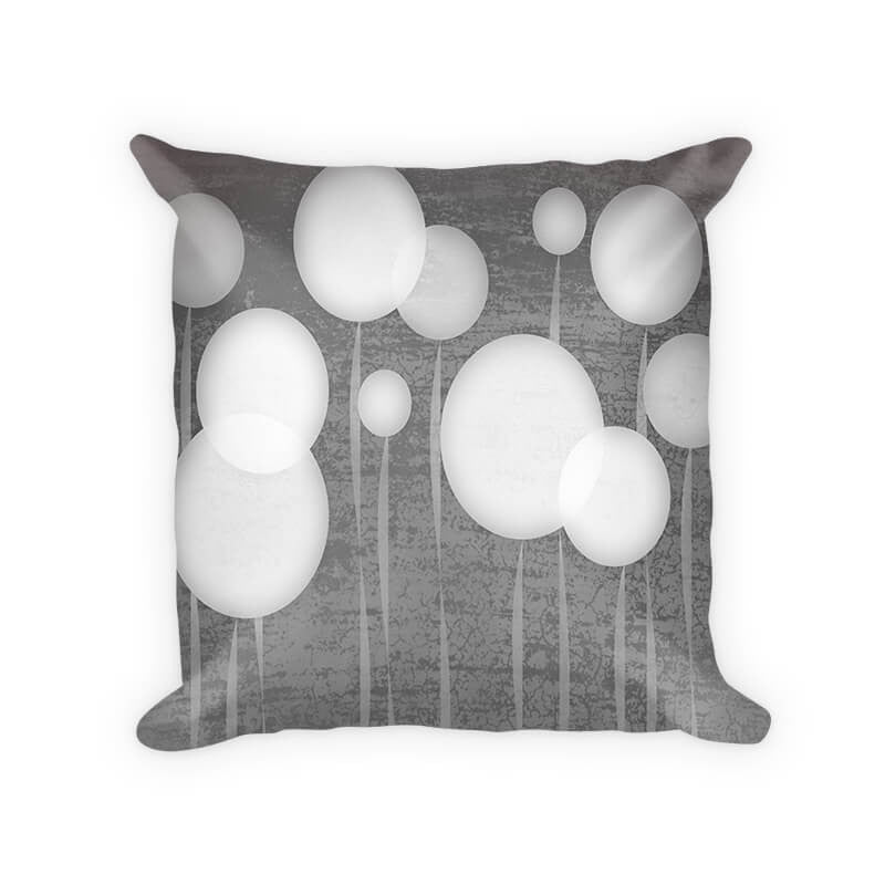 Abstract Dandelions Woven Cotton Throw Pillow - WallLillies