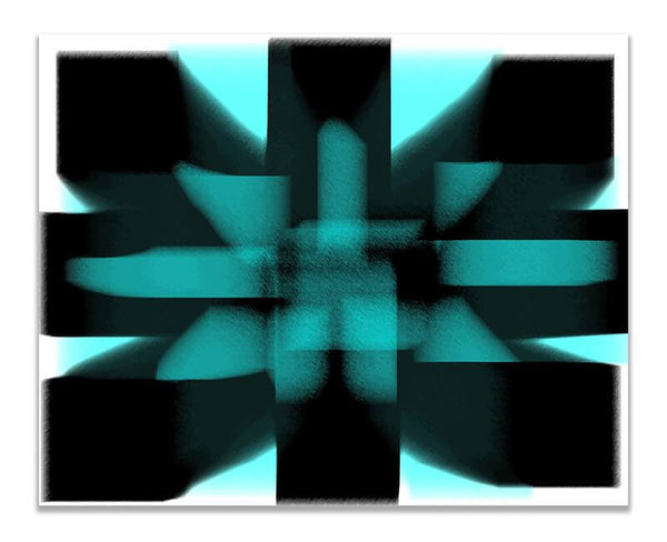 Geometric Energy Abstract I Print Wall Art - WallLillies